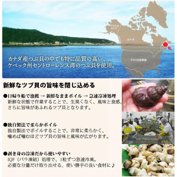 お歳暮 ギフト つぶ貝 名物商品 煮る焼く炒める&刺身、食べればハマる♪ ツブ貝むき身ボイル1kg(Lサイズ)  IQF個別冷凍 冷凍便 送料無料|masuyone|02