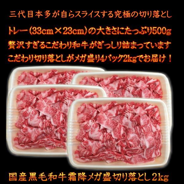 国産黒毛和牛 A4A5等級のみ贅沢な霜降りメガ盛最上級切り落とし2kg(訳あり 端 端っこ はしっこ) 福島牛 送料無料 牛肉 |matador|05