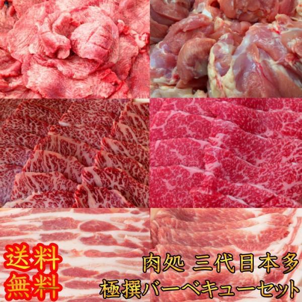 焼肉 肉処 三代目本多こだわり極撰バーベキューセット 焼肉セット 送料無料 国産黒毛和牛 豚肉 牛肉 牛たん 鶏肉 キャンプ 肉 matador