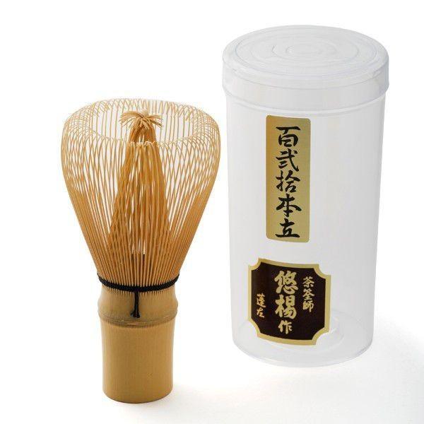茶筅 120本立 悠楊作(日本製) (茶道具セット 茶道 薄茶用 抹茶 ギフト 贈り物)|matcha