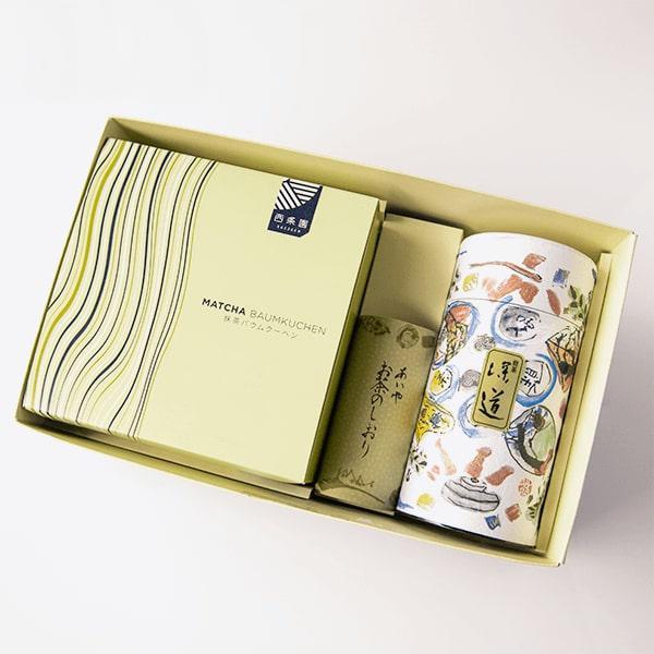 抹茶バウムクーヘンとお茶の詰合せ 抹茶スイーツ ギフト お取り寄せ|matcha|03