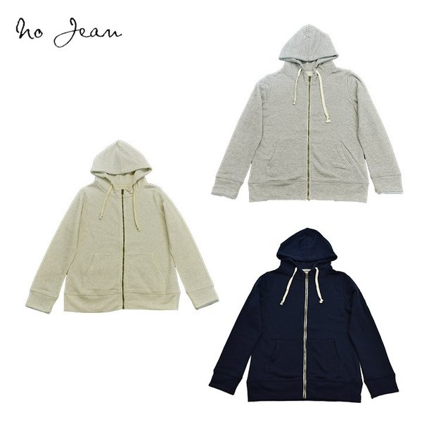 No jeanノージーン うす手・スウェット・前アキ・パーカー(M・Lサイズ)レディース