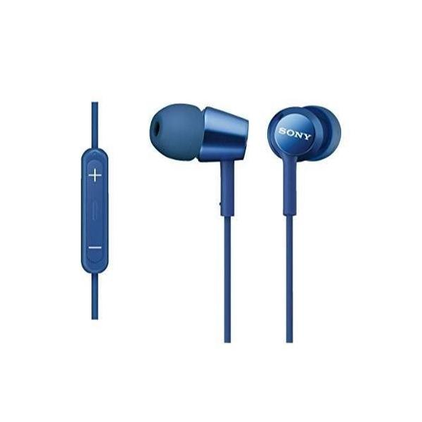 ソニー SONY イヤホン MDR-EX150IP : カナル型 iPhone/iPod/iPad用リモコン・マイク付き ブルー MDR-EX150IP LI|materialbeats|02
