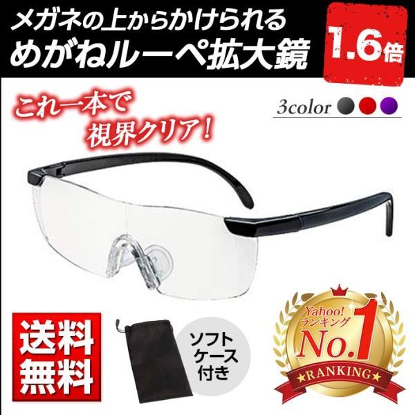 ルーペ メガネ 拡大鏡 眼鏡型 1.6倍  めがねルーペ  ポイント消化|matsh
