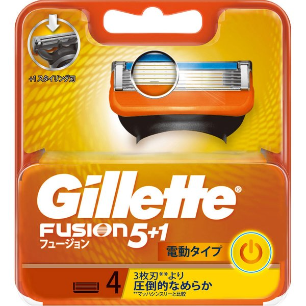 P&Gジャパン ジレット フュージョン5+1パワー 替刃4個