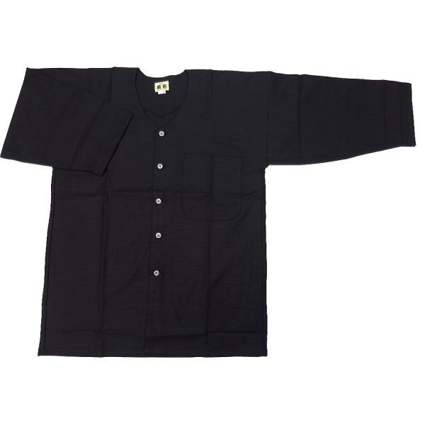 綿紬(黒)肥満サイズ(3L) 大人ダボシャツ 男女兼用 義若オリジナル|matsuriya-sonami