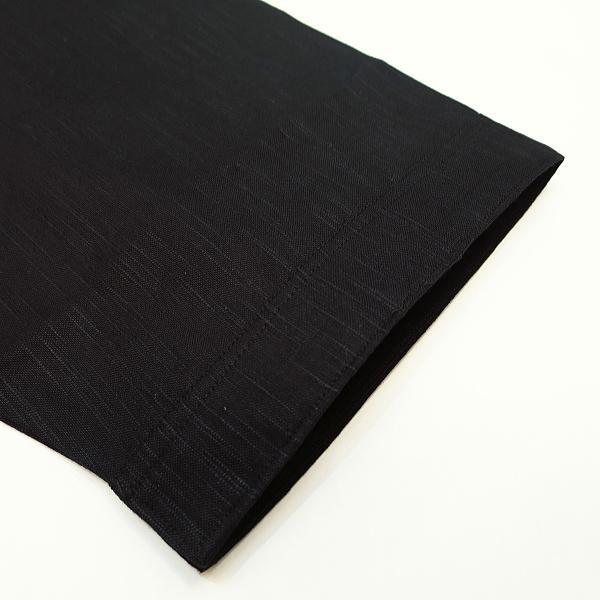 綿紬(黒)肥満サイズ(3L) 大人ダボシャツ 男女兼用 義若オリジナル|matsuriya-sonami|02