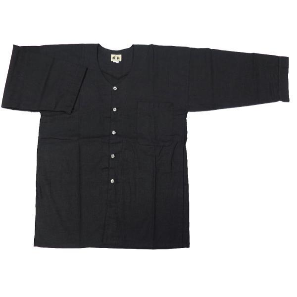 義若のむら染め(鉄黒) 大人ダボシャツ 男女兼用 義若オリジナル|matsuriya-sonami