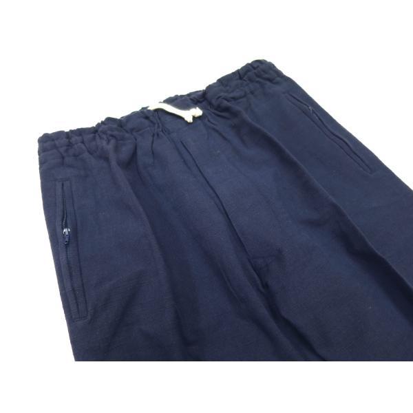 こだわりの綿紬 義若の股引き型ズボン (紺)巾広サイズ(3L) 男女兼用 義若オリジナル|matsuriya-sonami|02