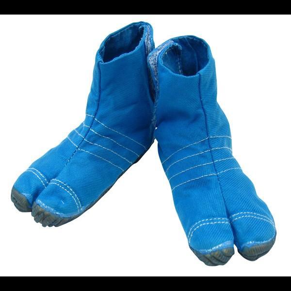 お洒落カラー足袋 ショート(ターコイズブルー・青)マジックテープ式 祭り足袋 matsuriya-sonami