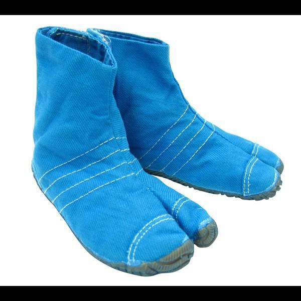 お洒落カラー足袋 ショート(ターコイズブルー・青)マジックテープ式 祭り足袋 matsuriya-sonami 02