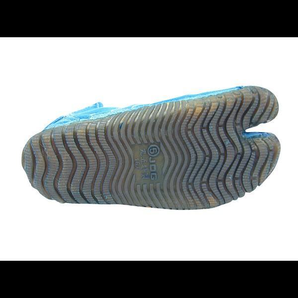 お洒落カラー足袋 ショート(ターコイズブルー・青)マジックテープ式 祭り足袋 matsuriya-sonami 04