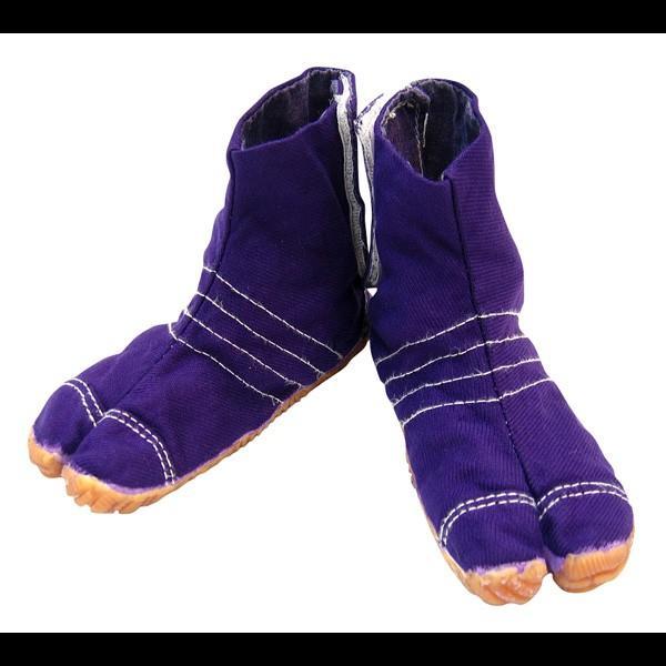 お洒落カラー足袋 ショート(パープル・紫)マジックテープ式 祭り足袋 matsuriya-sonami