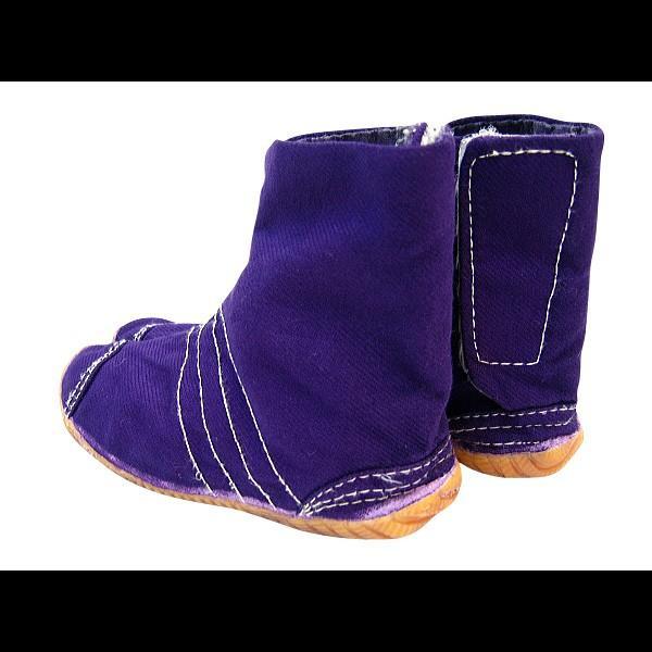 お洒落カラー足袋 ショート(パープル・紫)マジックテープ式 祭り足袋 matsuriya-sonami 03