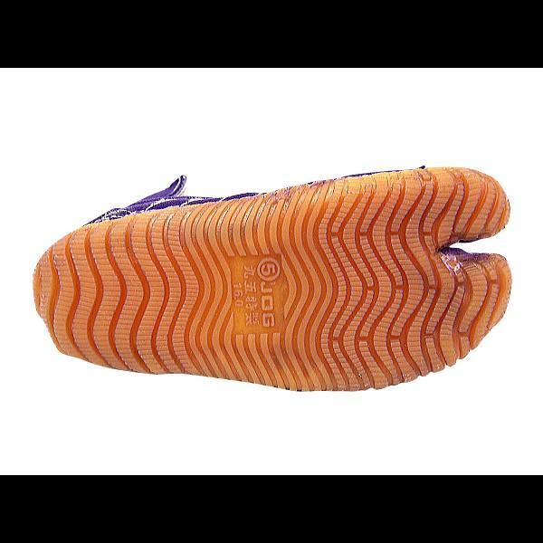 お洒落カラー足袋 ショート(パープル・紫)マジックテープ式 祭り足袋 matsuriya-sonami 04