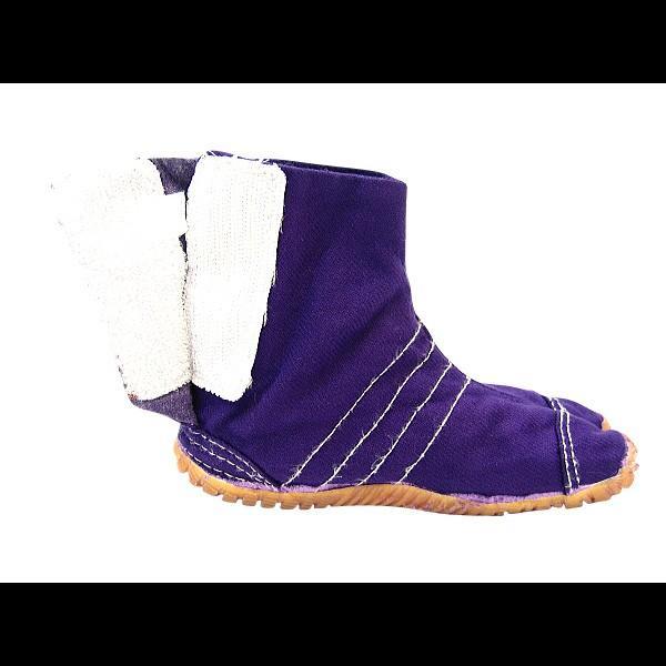 お洒落カラー足袋 ショート(パープル・紫)マジックテープ式 祭り足袋 matsuriya-sonami 05