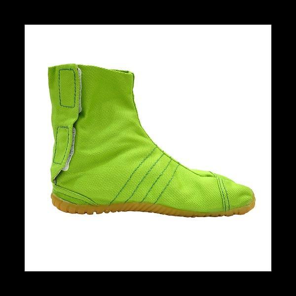 柄の裏地がお洒落なカラー足袋 ショート(グリーン)マジックテープ式 子供祭り足袋|matsuriya-sonami|03
