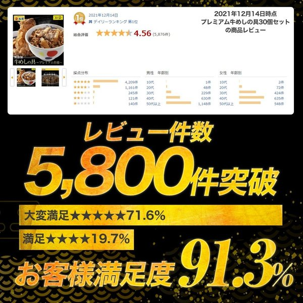 松屋牛めしの具(プレミアム仕様) 30個 牛丼の具 冷凍 |matsuyafoods|07
