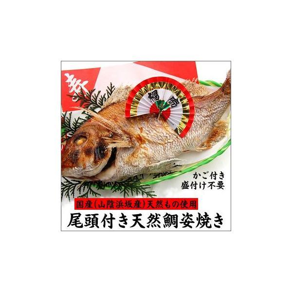 (送料無料)尾頭付き天然鯛(たい・タイ)の姿焼き 一般的な大きいサイズ 1匹(山陰浜坂産)