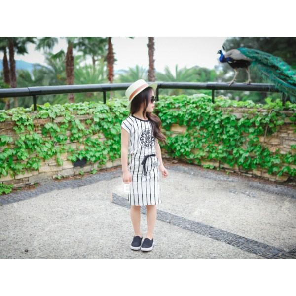 ベビー キッズ 子供服 女の子 セットアップ スカート ストライプTシャツ&タイトスカートセット mavelous 02