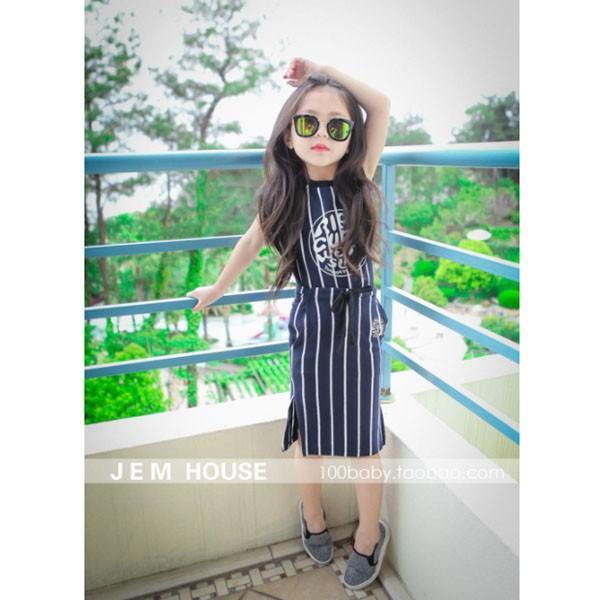 ベビー キッズ 子供服 女の子 セットアップ スカート ストライプTシャツ&タイトスカートセット mavelous 04