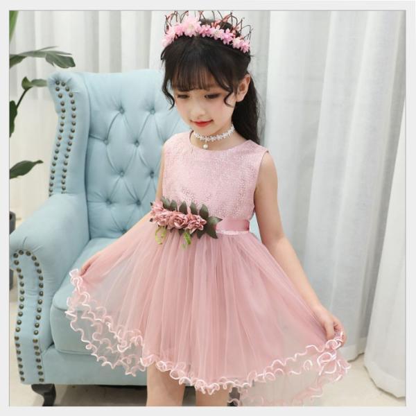 a7a5c4c57fbd8 ... キッズ 子供服 女の子 ドレス ワンピース セレモニー 韓国子供服 海外ブランド フラワーモチーフドレス|