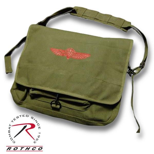 メッセンジャーバッグ ROTHCO ロスコ 社製 パラシュート部隊 キャンバス地 ショルダーバッグ / オリーブ8128