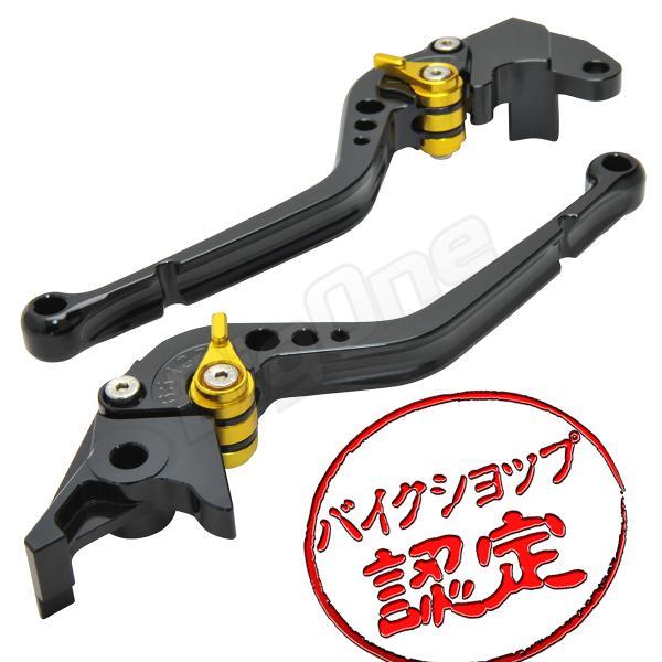 ビレットレバーセットR-タイプ黒/金ブラックゴールドFZ400FZ400LXJR400XJR400RXJR400Sディバージョン