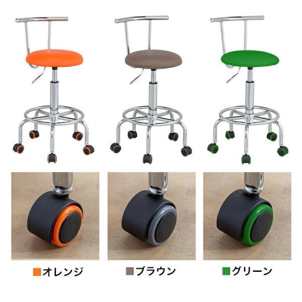 キッチンチェア ガス圧 昇降式 回転チェア キャスター付き キッチン チェアー カウンターチェアー 椅子 送料無料|maxlex|03