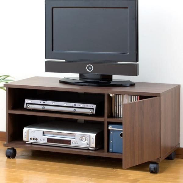 テレビ台 幅90cm 収納 テレビボード ローボード キャスター付き 扉付き 送料無料 代金引換不可