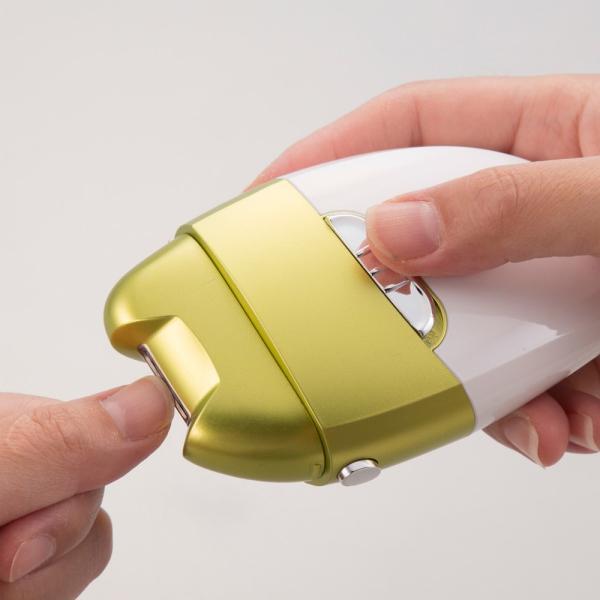 電動爪削り Leaf DX 電動 爪削り&角質ケアローラー 爪切り 爪やすり かかと角質 ネイルケア 送料無料 maxlex