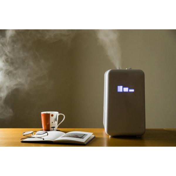 加湿器 アロマ ハイブリッド式 アロマディフューザー 卓上 おしゃれ 小型 オフィス ミニ加湿器 大容量6L 上から給水 送料無料|maxlex|03