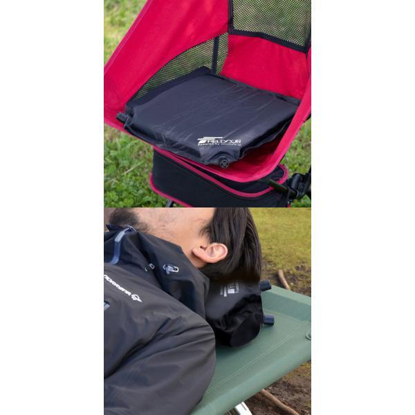 エアークッション 2個セット クッション エアー枕 エアーピロー エアピロー アウトドア キャンプ キャンプ用品 枕 車中泊 送料無料|maxshare|09