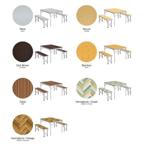 レジャーテーブル 折りたたみ テーブル レジャーテーブルセット ピクニックテーブル 110X80X70cm 収納式 椅子付 FIELDOOR 送料無料|maxshare|02