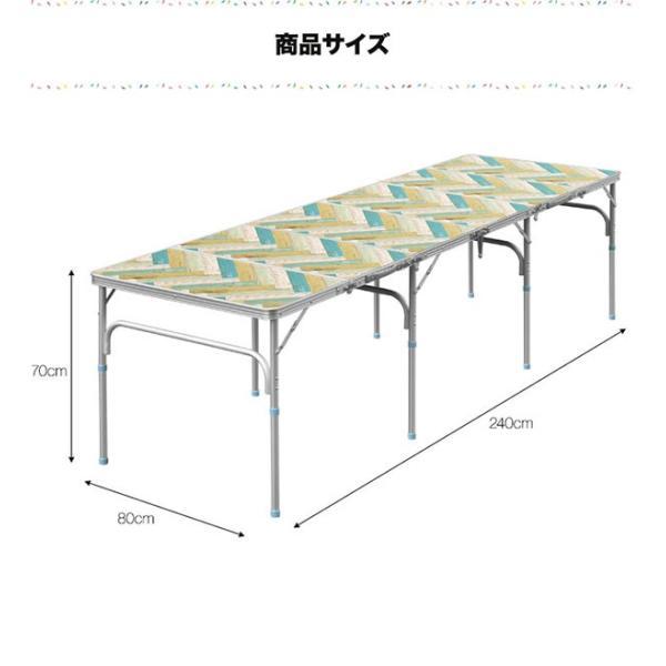 テーブル 折りたたみ アウトドア 折りたたみテーブル 六つ折り 収納式 アウトドアテーブル レジャーテーブル アルミ 製 高さ 調整 調節 送料無料|maxshare|03