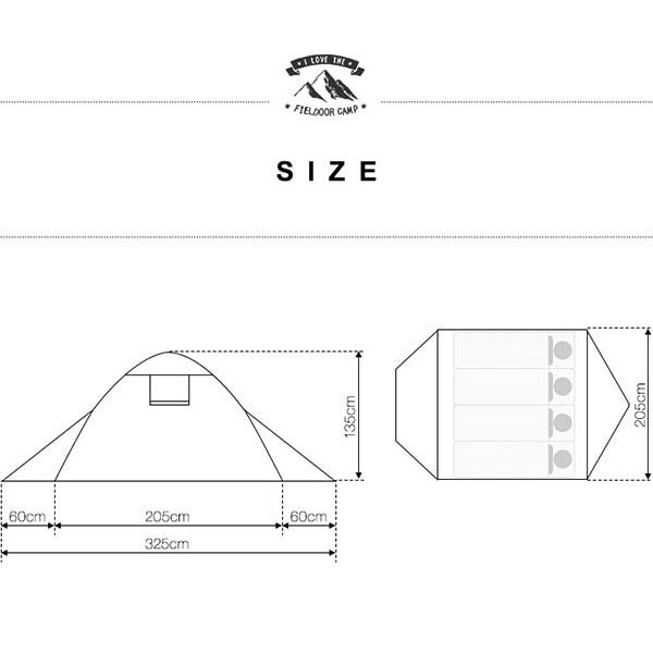 テント 4人用 ドームテント ドーム型 UVカット メッシュ フルクローズテント キャンプ アウトドア おしゃれ キャノピー 200x200 FIELDOOR 送料無料 maxshare 04