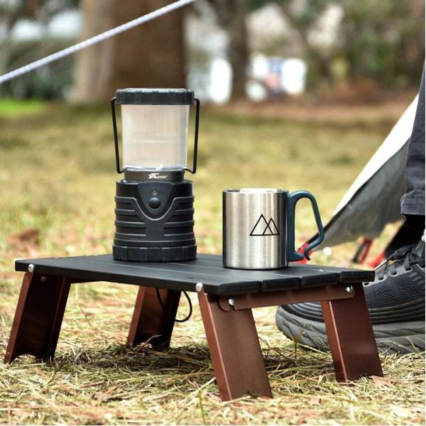 アウトドアテーブル 折りたたみ アルミ レジャーテーブル コンパクト テーブル 4枚天板 アウトドア キャンプ 折り畳み 運動会 FIELDOOR 送料無料|maxshare|02