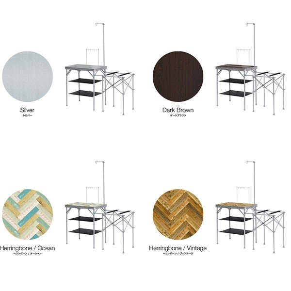 キッチンテーブル テーブル 折りたたみ アウトドア キッチン バーナースタンド キャンプ用 調理台 折りたたみテーブル 収納式 FIELDOOR 送料無料|maxshare|02
