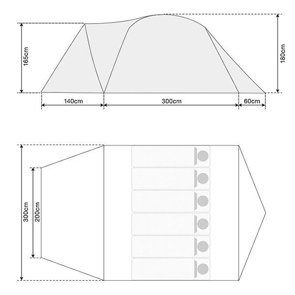 テント ドーム型 ファミリー 300cm 4人用 5人用 6人用 おしゃれ 大型 キャンプ フルクローズ アウトドア UVカット メッシュ 災害 防災 FIELDOOR 送料無料|maxshare|03