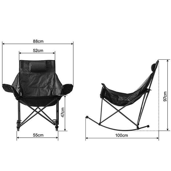 アウトドアチェア 折りたたみ ロッキングチェア 椅子 チェア コンパクトチェア ゆらゆら 揺れる リラックス キャンプ バーベキュー ベランダ FIELDOOR 送料無料|maxshare|03