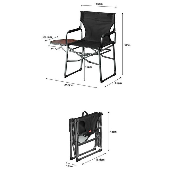 アウトドアチェア 折りたたみ テーブル 付き 2脚セット 軽量 椅子 チェア アウトドア 折りたたみチェア サイドテーブル キャンプ バーベキュー 送料無料 maxshare 02