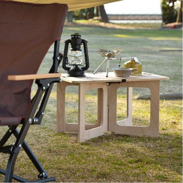アウトドアテーブル レジャーテーブル コンパクト Mサイズ 幅 60cm 組み立て ミニ 木製 レジャー テーブル アウトドア キャンプ FIELDOOR フィールドア 送料無料|maxshare|13