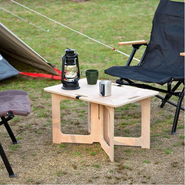 アウトドアテーブル レジャーテーブル コンパクト Mサイズ 幅 60cm 組み立て ミニ 木製 レジャー テーブル アウトドア キャンプ FIELDOOR フィールドア 送料無料|maxshare|03
