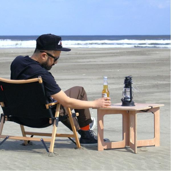 アウトドアテーブル レジャーテーブル コンパクト Mサイズ 幅 60cm 組み立て ミニ 木製 レジャー テーブル アウトドア キャンプ FIELDOOR フィールドア 送料無料|maxshare|04