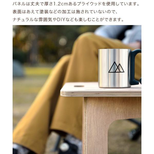 アウトドアテーブル レジャーテーブル コンパクト Mサイズ 幅 60cm 組み立て ミニ 木製 レジャー テーブル アウトドア キャンプ FIELDOOR フィールドア 送料無料|maxshare|05