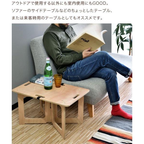 アウトドアテーブル レジャーテーブル コンパクト Mサイズ 幅 60cm 組み立て ミニ 木製 レジャー テーブル アウトドア キャンプ FIELDOOR フィールドア 送料無料|maxshare|10