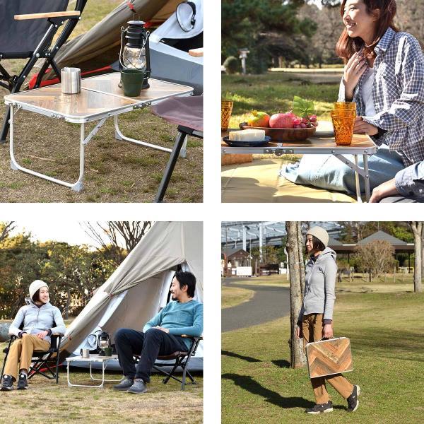 アウトドアテーブル 折りたたみ アルミ レジャーテーブル コンパクト テーブル アウトドア キャンプ 折り畳み 運動会 FIELDOOR 送料無料|maxshare|04