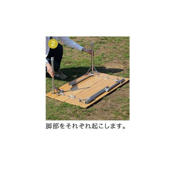 テーブル 高さ調節 可能 幅100cm 折りたたみ 在宅勤務 テレワーク アウトドア レジャー ピクニック ローテーブル キャンプ デスク バンブー FIELDOOR 送料無料|maxshare|12