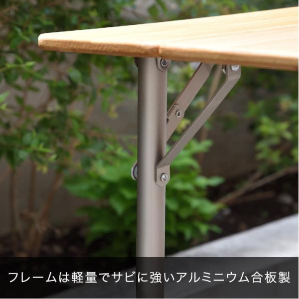 テーブル 高さ調節 可能 幅100cm 折りたたみ 在宅勤務 テレワーク アウトドア レジャー ピクニック ローテーブル キャンプ デスク バンブー FIELDOOR 送料無料|maxshare|18