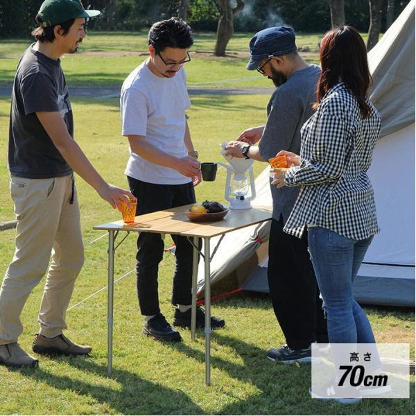 テーブル 高さ調節 可能 幅100cm 折りたたみ 在宅勤務 テレワーク アウトドア レジャー ピクニック ローテーブル キャンプ デスク バンブー FIELDOOR 送料無料|maxshare|04